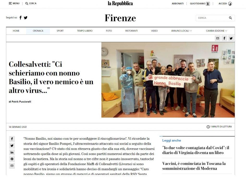 La Repubblica di Firenze, 14 gennaio 2021